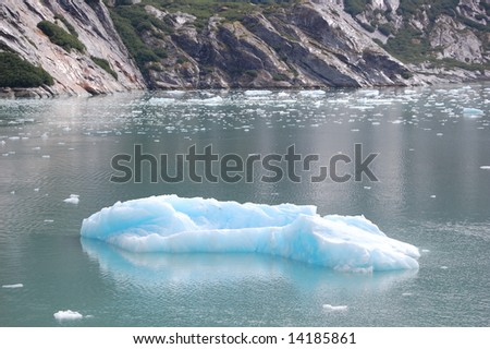 Floating Iceberg - stock photo