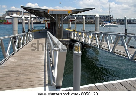 Floating Jetty - stock photo