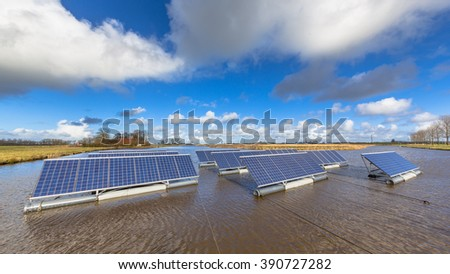 Floating solar panels on unused water bodies can represent a serious alternative to ground mounted solar systems