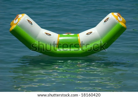 floating sunbed - stock photo