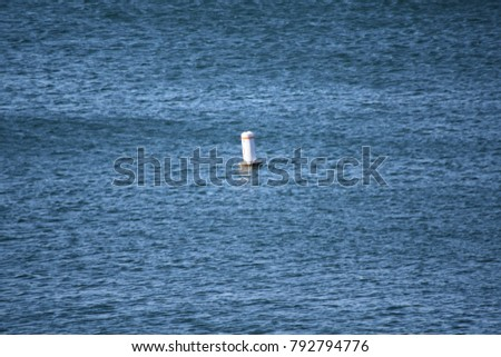Floating water buoy marking the no boating and no swimming zone.