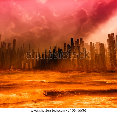Flood - stock photo