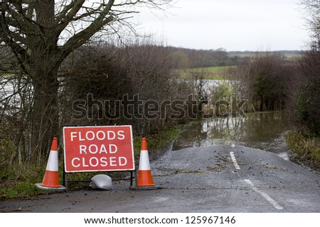 Flooding in England - stock photo