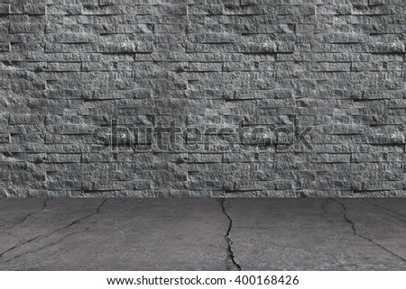 Floor Concrete, Wall Stone, Backgrounds, Texture, Pattern, Interior