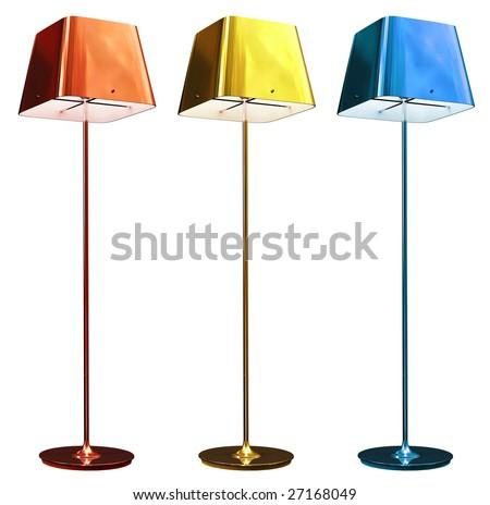 floor lamp - stock photo