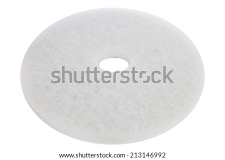 Floor polishing pad isolated on white background