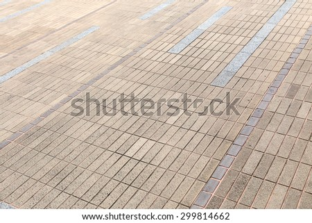 floor tiles, footpath. concept for product display
