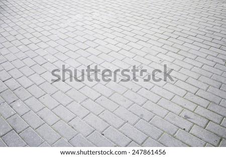 Floor tiles in urban road construction - stock photo