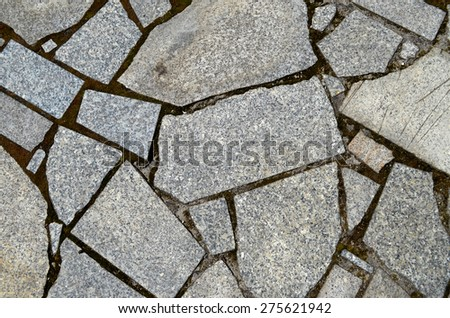 floor walkway stone - stock photo