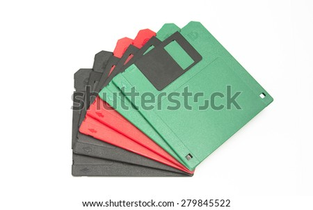 floppy disk for a computer diskette - stock photo