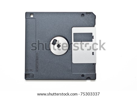 Floppy disk isolated on white - stock photo