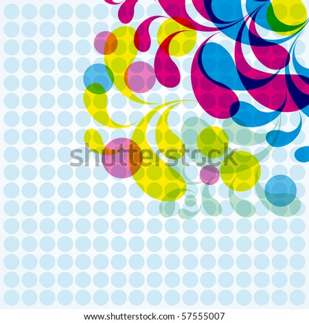Floral abstract background - stock photo