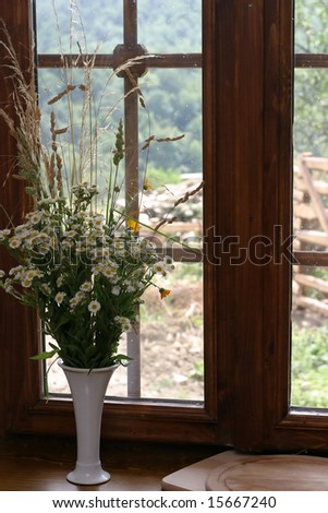 Floral Arrangement of flowers. - stock photo