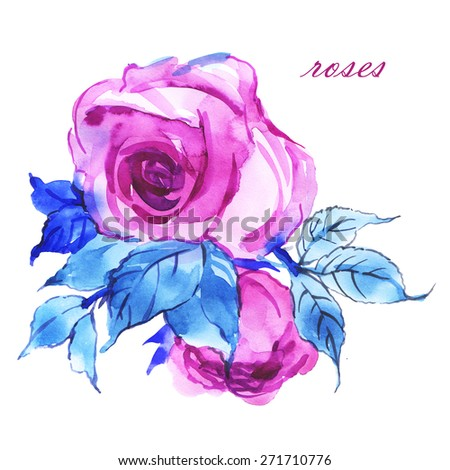 Floral background delicate mauve roses - stock photo