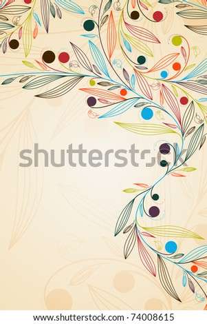 floral background, jpg - stock photo