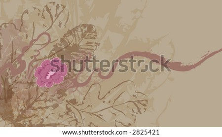 Floral background. Raster version - stock photo