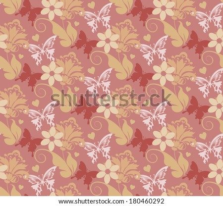 floral background. seamless pattern. wallpaper