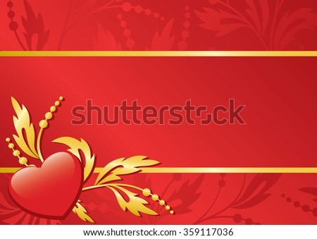 floral background with heart  - stock photo