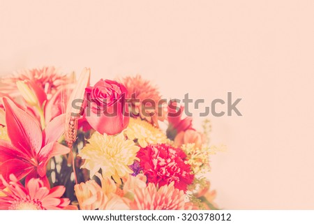 Floral bouquet with copy space  - stock photo