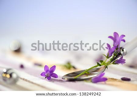 Floral Decoration Background, no Focus - stock photo