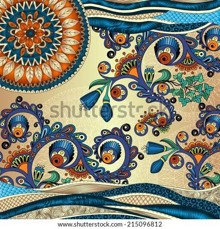 floral decorative background. - stock photo