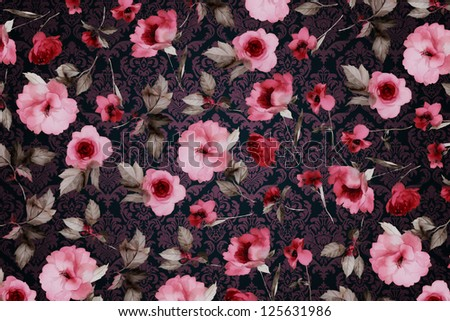 floral design background, vintage and ancient - stock photo