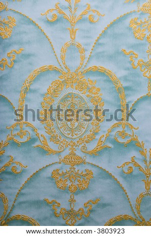 Floral design fabric pattern - stock photo