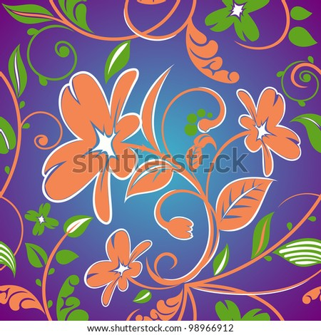 floral designs. the magic touch. raster - stock photo