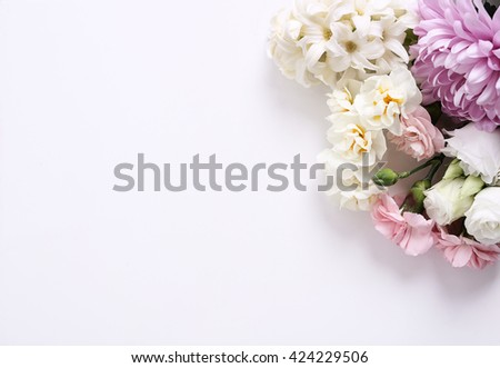 Floral. Flowers on the table - stock photo
