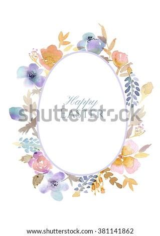 Spring Floral Retro Card Narcissus Wildflowers Stock Vector