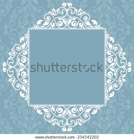 Floral greeting card. Raster version. - stock photo