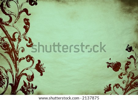 floral grunge background - stock photo