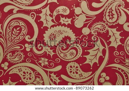 floral ornament in red colors