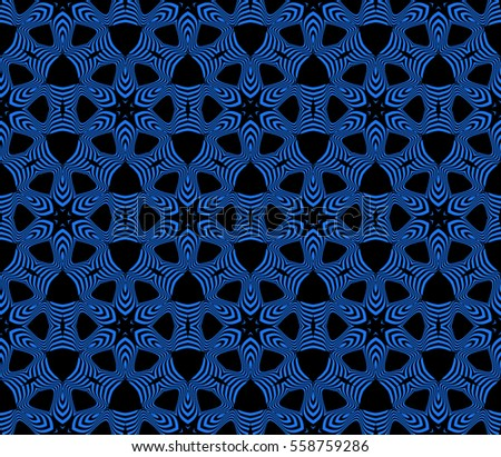 floral ornament. seamless raster copy pattern. black, blue color. for wallpaper, wedding and holiday invitation, fashion design.