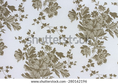 Floral pattern on bright background, textile texture - stock photo