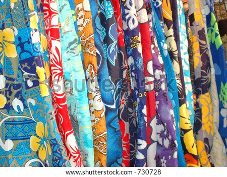 floral pattern shorts - stock photo