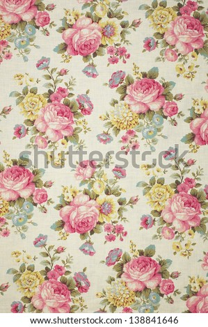 Floral Pattern Wallpaper / Background - stock photo
