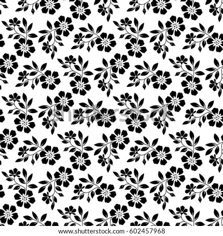 Wallpaper Baroque Damask Seamless Background Black And White Ornament