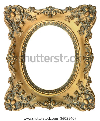floral picture frame - stock photo