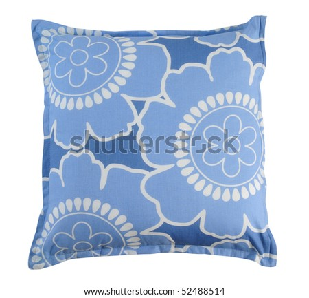Floral pillow. Isolated - stock photo