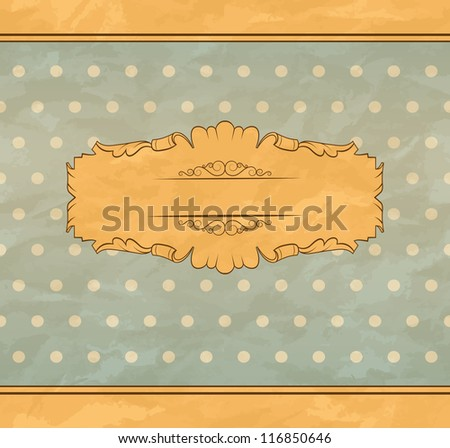 Floral retro background. Invitation card to the wedding or announcements.