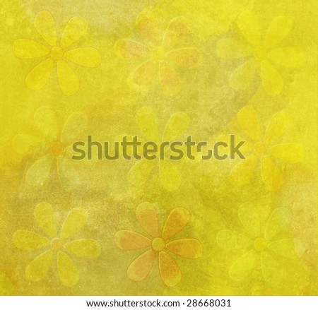 Floral Seamless Grungy Background - stock photo