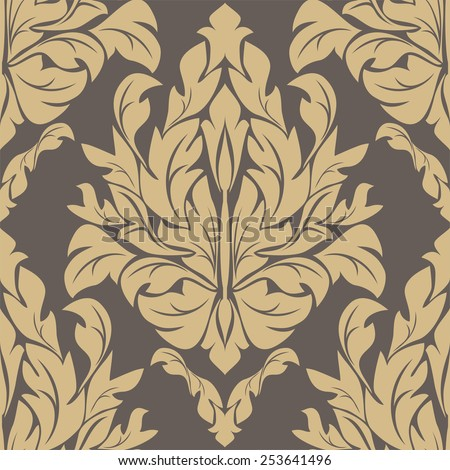 Floral seamless ornate Ornament. Raster version. - stock photo