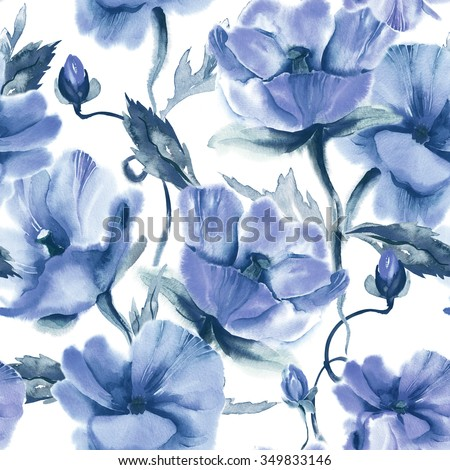 Floral Seamless Pattern - stock photo