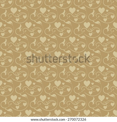 Floral Seamless Pattern. Background Wallpaper. Wedding and Valentines day. Abstract Background for your design. Modern style. For design of cards, invitations, book, web design. Brown color - stock photo
