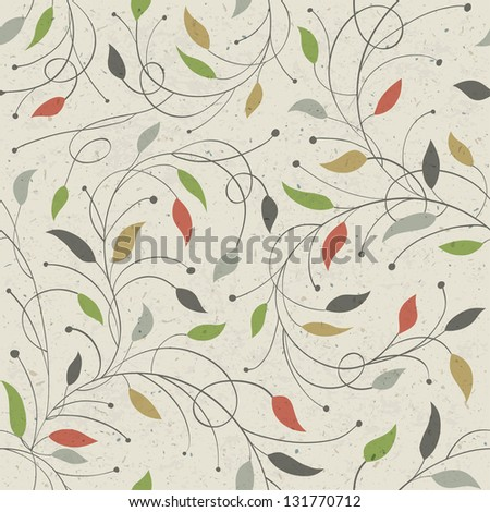 Floral seamless pattern. Raster version, vector file available in portfolio. - stock photo