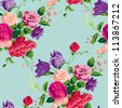 Floral Seamless Pattern.  Use for backgrounds and fill, or create your own virtual home wallpaper. - stock
