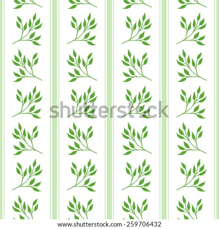 Floral seamless pattern with hand drawn branches. Raster version - stock photo