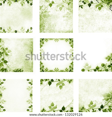 Floral vintage leaves and flowers backgrounds - stock photo