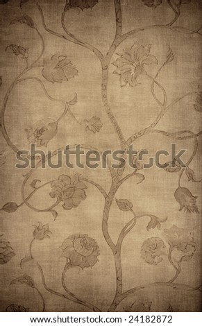 Floral vintage wallpaper background - stock photo